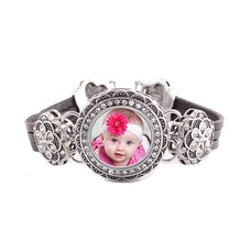 Armband met Foto Armband met Foto Bling Zilverkleurig