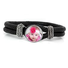 Armband met Foto Knoop Armband met Foto Zwart