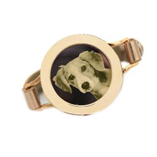 Graveer Armbanden Goudkleurige Leren Armband met foto graveer munt smal goudkleurig