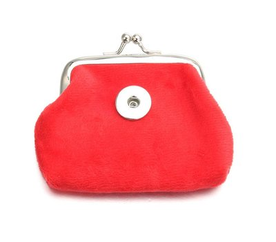 Clicks Sieraden Knip portemonnee fluweel rood