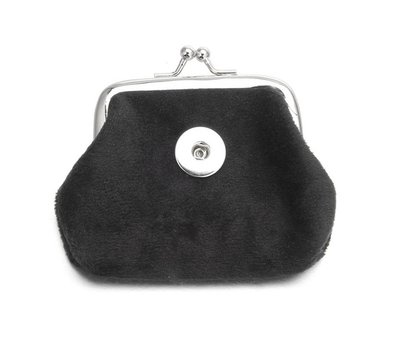 Clicks Sieraden Knip portemonnee fluweel zwart