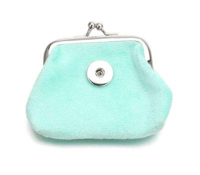 Clicks Sieraden Knip portemonnee fluweel mint