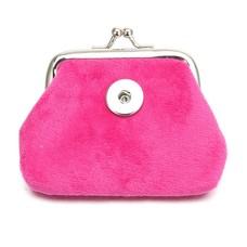 Clicks Sieraden Knip portemonnee fluweel donker roze