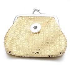 Clicks Sieraden Knip portemonnee pailletten goudkleurig