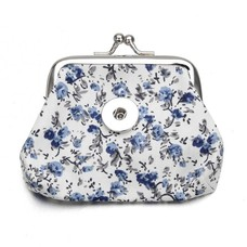 Clicks Sieraden Knip portemonnee flowers blauw