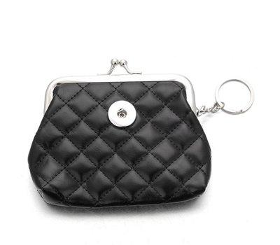Clicks Sieraden Knip portemonnee glossy zwart
