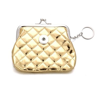 Clicks Sieraden Knip portemonnee glossy goudkleurig