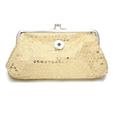 Clicks Sieraden Knip portemonnee pailletten groot goudkleurig