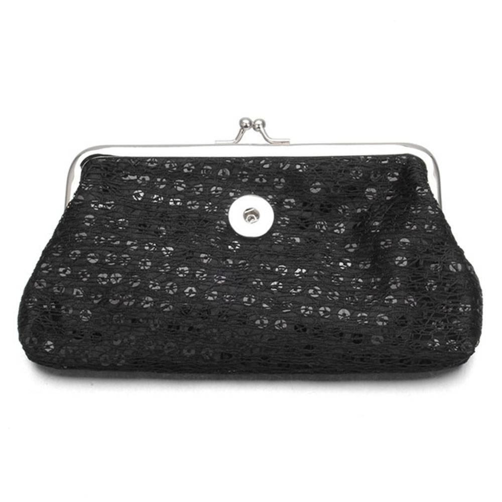 278070fd55d Clicks Sieraden Knip portemonnee pailletten groot zwart - Shoppe ...