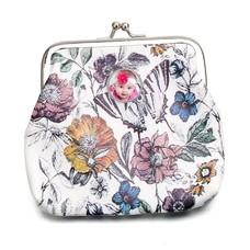 Portemonnee met foto Knip portemonnee bloemen en vlinder met foto