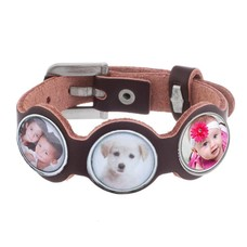 Armband met Foto Foto Armband Lilly bruin