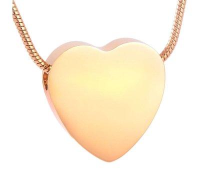 Ashangers Ashanger hart egaal goudkleurig inclusief ketting