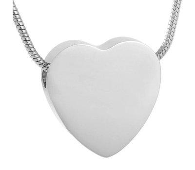 Ashangers Ashanger hart egaal zilverkleurig inclusief ketting