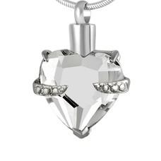 Ashangers Ashanger hart kristal zilverkleurig