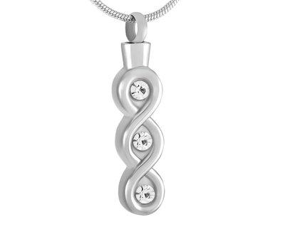 Ashangers Ashanger infinity lang zilverkleurig inclusief ketting