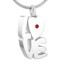 Ashangers Ashanger love hart zilverkleurig