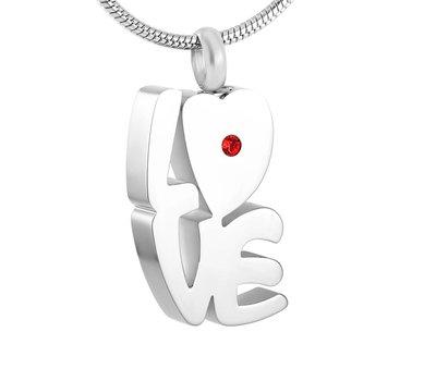 Ashangers Ashanger love hart zilverkleurig inclusief ketting