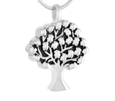 Ashangers Ashanger levensboom zilverkleurig inclusief ketting