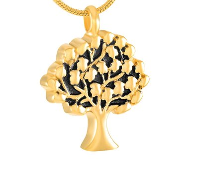Ashangers Ashanger levensboom goudkleurig inclusief ketting