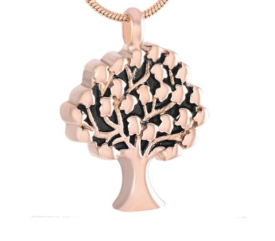 Ashangers Ashanger levensboom rose goudkleurig inclusief ketting