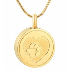 Ashangers Ashanger hondenpootje rond goudkleurig