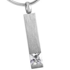 Ashangers Ashanger rechthoek crystal zilverkleurig
