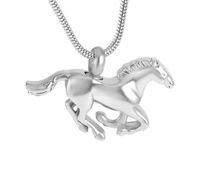Ashangers Ashanger paard zilverkleurig inclusief ketting