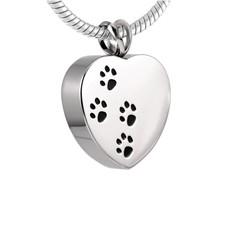 Ashangers Ashanger hart met hondenpootjes zilverkleurig