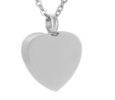 Ashangers Ashanger hart forever zilverkleurig inclusief ketting