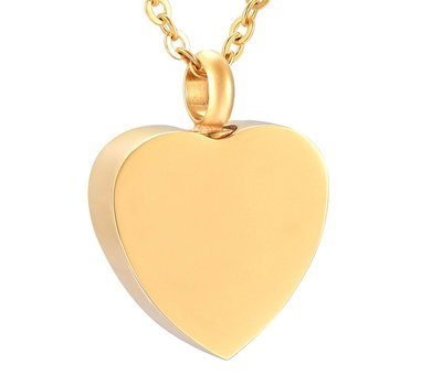 Ashangers Ashanger hart forever goudkleurig inclusief ketting
