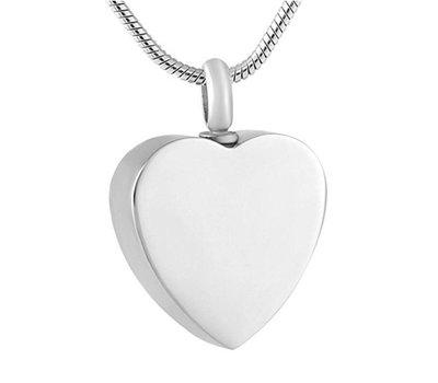 Ashangers Ashanger hart zilverkleurig inclusief ketting