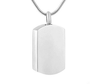 Ashangers Ashanger dogtag zilverkleurig inclusief ketting
