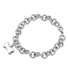 As Armbanden As armband met asbedel hondenbotje zilverkleurig