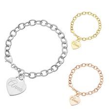 De trendy Love armband met naam in zilverkleurig en goudkleurig
