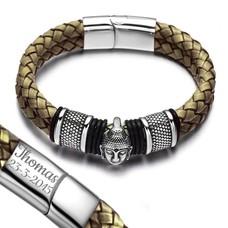 Armband met Naam Boeddha armband graveren beige