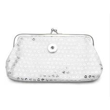 Clicks Sieraden Knip portemonnee pailletten groot zilverkleurig