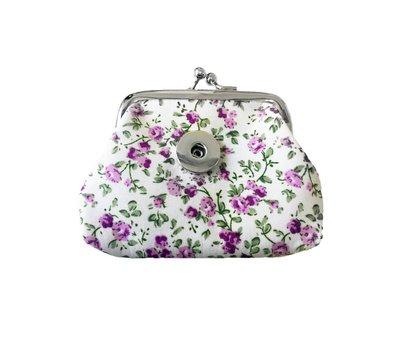 Clicks Sieraden Knip portemonnee flowers lila