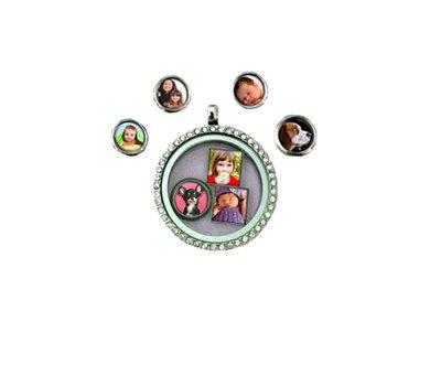Floating Charms Floating charm foto vierkant voor de memory locket
