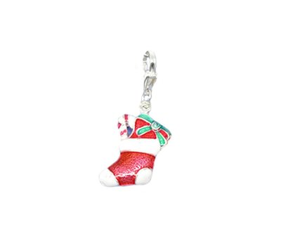 Clip on charms Kerstsok dangle