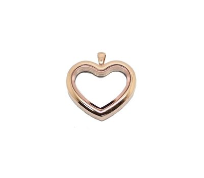Floating locket Goudkleurige memory locket hart