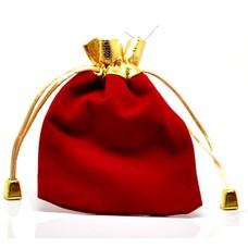 Luxe cadeauzakje rood met goudkleurig