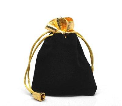 Luxe cadeauzakje zwart met goudkleurig