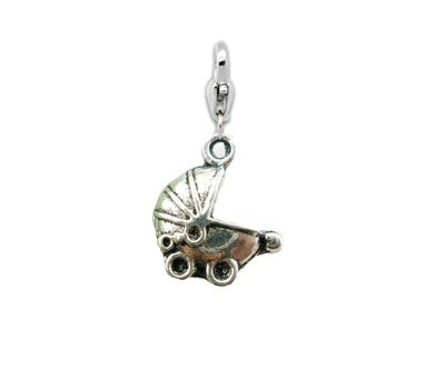 Clip on charms Kinderwagen dangle