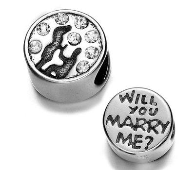 Bedels en Kralen Bedel wil je met me trouwen voor bedelarmbanden