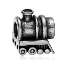 Bedels en Kralen Bedel lokomotief zilverkleurig