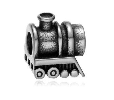 Bedels en Kralen Bedel lokomotief zilverkleurig voor bedelarmbanden