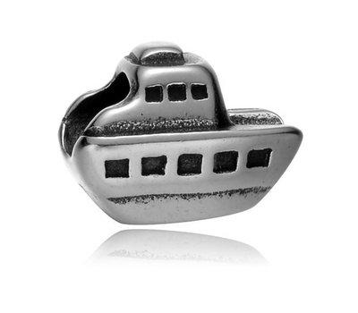 Bedels en Kralen Bedel boot zilverkleurig voor bedelarmbanden