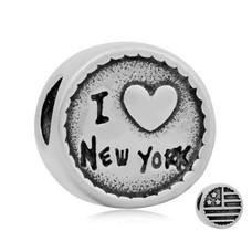 Bedels en Kralen Bedel New York zilverkleurig