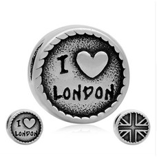 Bedels en Kralen Bedel Londen zilverkleurig