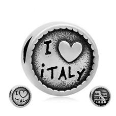 Bedels en Kralen Bedel Italie zilverkleurig
